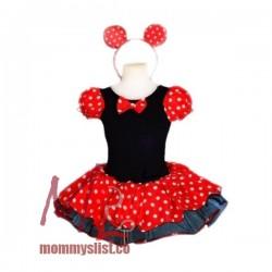 2-pc Set Minnie Mouse Costume Dress B