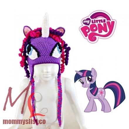 Twilight Sparkle Crochet Hat