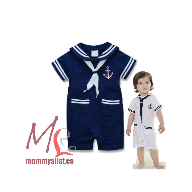 sc 1 st  MommysList & Sailor Costume Romper P Blue