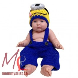 sc 1 st  MommysList & Minion Crochet Costume Set One Eye C